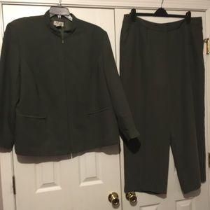 Olive Green Pants Suit